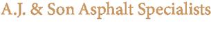A.J. & Son Asphalt Specialists Serving North Carolina